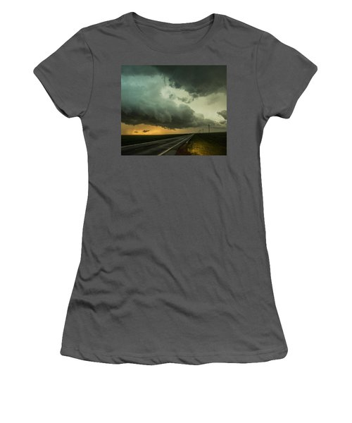 Kansas Storm Chase Bust Day 004 Women's T-Shirt (Athletic Fit)