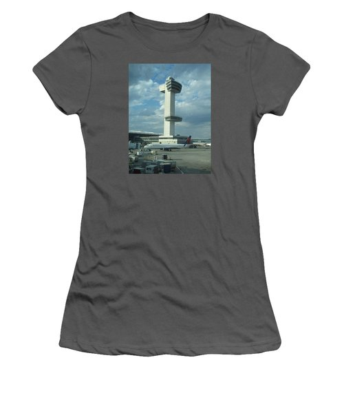 Kennedy Airport Control Tower Women's T-Shirt (Junior Cut) by Christopher Kirby
