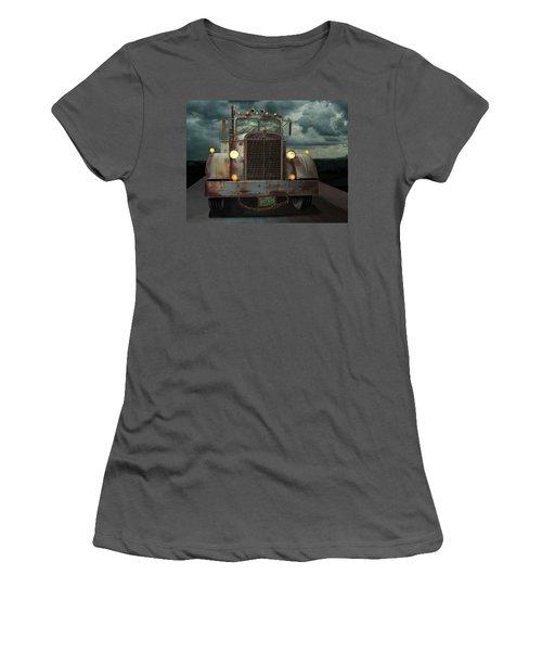 Women's T-Shirt (Junior Cut) featuring the digital art Kenworth Old Workhorse by Stuart Swartz