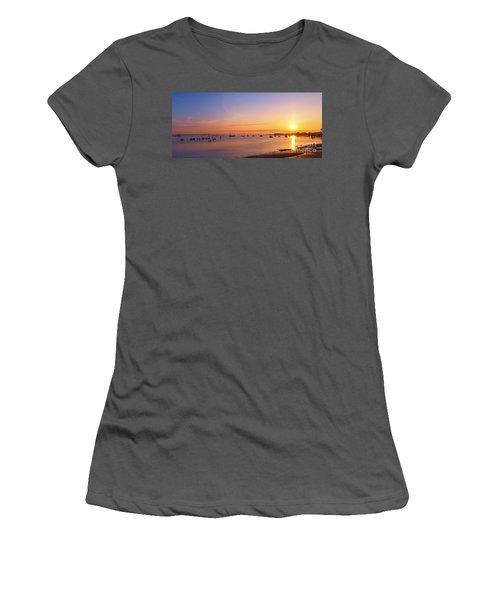 Keyport Harbor Sunrise  Women's T-Shirt (Athletic Fit)