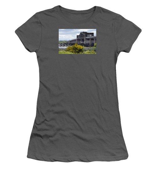 Women's T-Shirt (Junior Cut) featuring the photograph Kincardine Bridge by Jeremy Lavender Photography