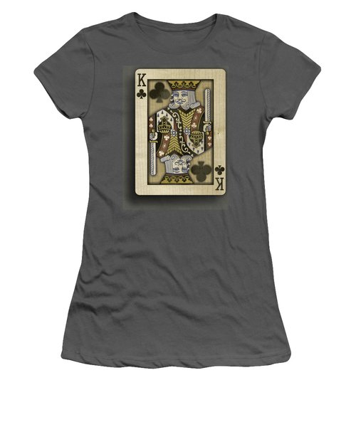 King Of Clubs In Wood Women's T-Shirt (Athletic Fit)