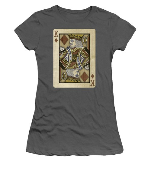 King Of Diamonds In Wood Women's T-Shirt (Athletic Fit)