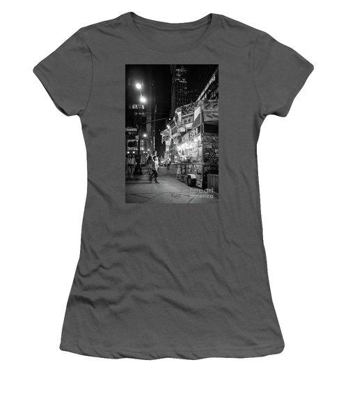 Knish, New York City  -17831-17832-bw Women's T-Shirt (Junior Cut) by John Bald