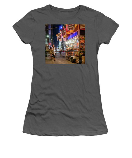 Women's T-Shirt (Junior Cut) featuring the photograph Knish, New York City  -17831-17832-sq by John Bald