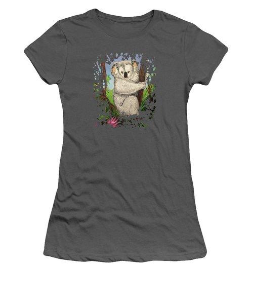 Koala Women's T-Shirt (Junior Cut) by Adam Santana
