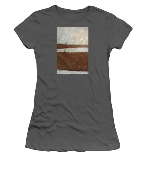 Kraft Paper And Screen Seascape Women's T-Shirt (Athletic Fit)