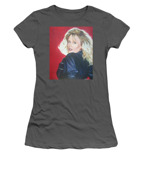 Women's T-Shirt (Junior Cut) featuring the painting Kristi Sommers by Bryan Bustard
