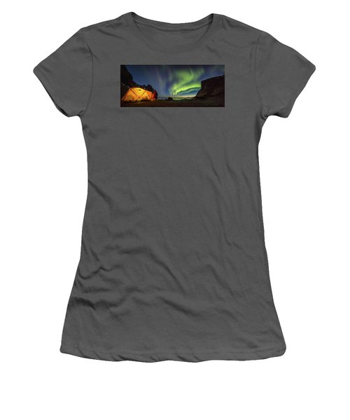 Kvalvika Under The Lights Women's T-Shirt (Athletic Fit)