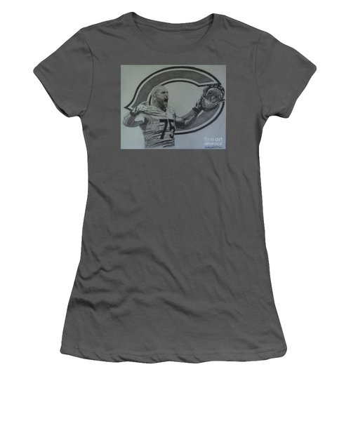 Kyle Long Of The Chicago Bears Women's T-Shirt (Junior Cut) by Melissa Goodrich