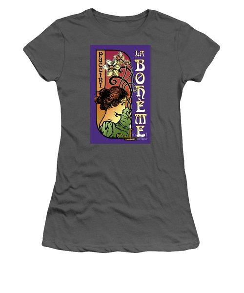La Boheme Women's T-Shirt (Athletic Fit)