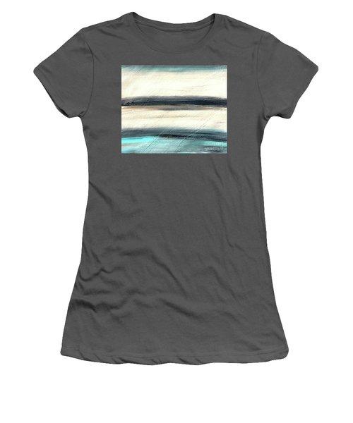 La Jolla #1 Seascape Landscape Original Fine Art Acrylic On Canvas Women's T-Shirt (Athletic Fit)