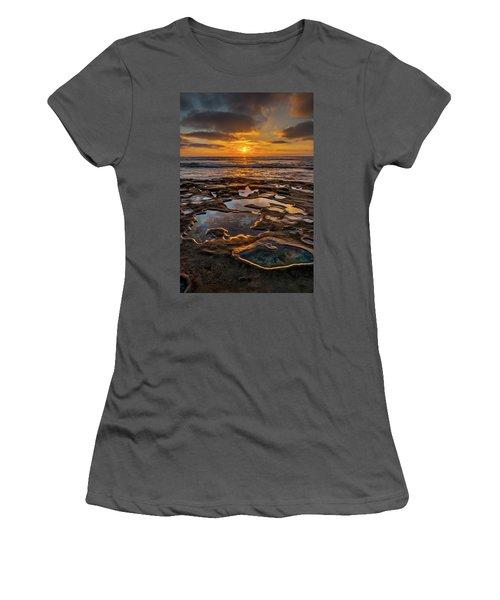 La Jolla Tidepools Women's T-Shirt (Junior Cut) by Peter Tellone