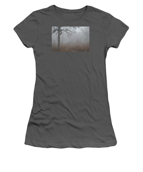 Women's T-Shirt (Junior Cut) featuring the photograph La Vernia Fog IIi by Carolina Liechtenstein