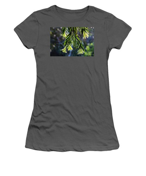 Lacey Leaves Women's T-Shirt (Athletic Fit)