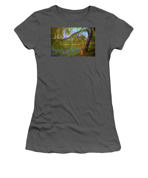 Lady In Pink Women's T-Shirt (Athletic Fit)