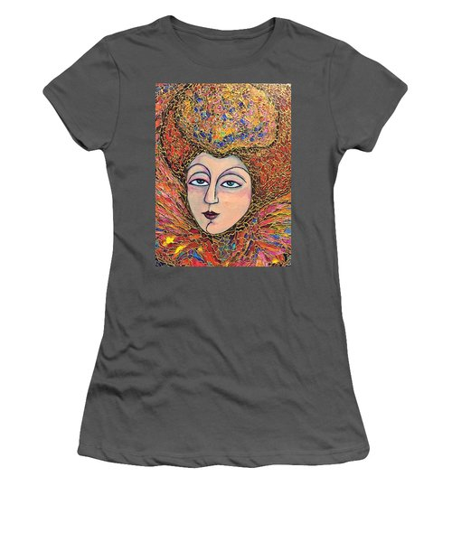 Women's T-Shirt (Junior Cut) featuring the painting Lady-in-waiting by Rae Chichilnitsky