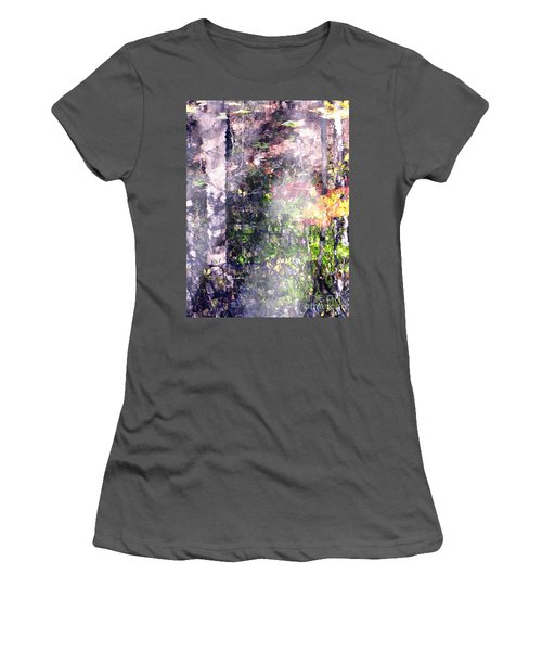 Women's T-Shirt (Junior Cut) featuring the photograph Lady On Water by Melissa Stoudt