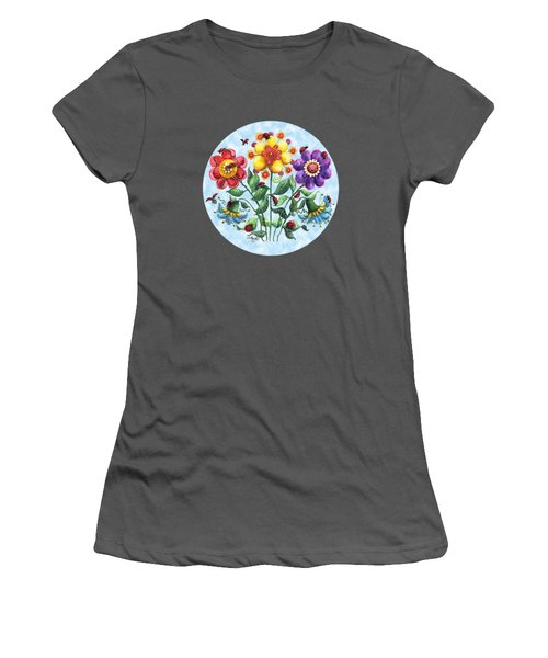 Ladybug Playground On A Summer Day Women's T-Shirt (Junior Cut) by Shelley Wallace Ylst