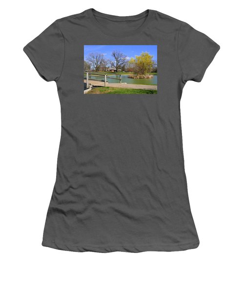 Lake At Schiller Park Women's T-Shirt (Athletic Fit)