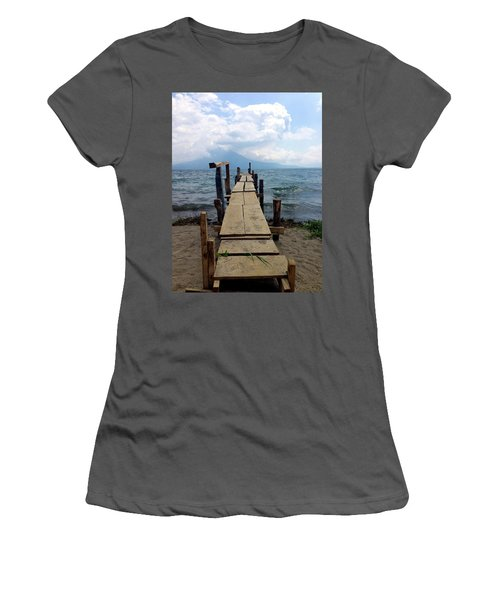 Lake Atitlan Dock Women's T-Shirt (Athletic Fit)