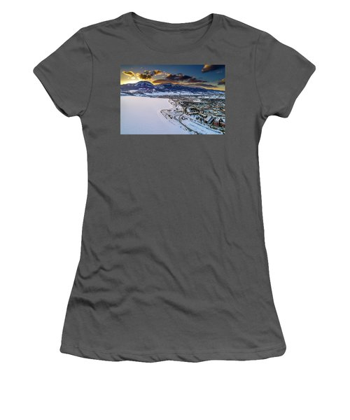 Women's T-Shirt (Athletic Fit) featuring the photograph Lake Dillon Sunset by Sebastian Musial
