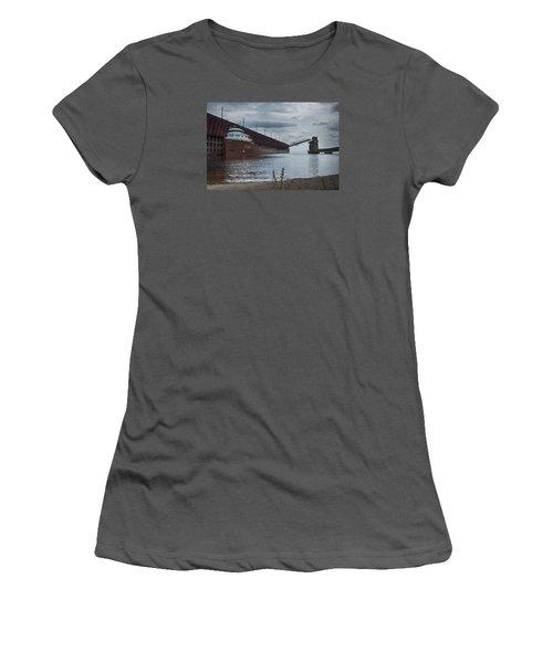Lake Freighter Women's T-Shirt (Junior Cut) by Dan Hefle