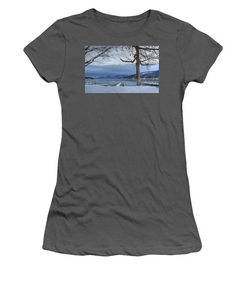 Lake George In The Winter Women's T-Shirt (Athletic Fit)