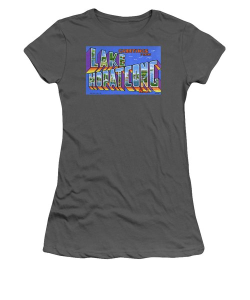 Lake Hopatcong Greetings Women's T-Shirt (Athletic Fit)