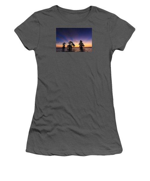 Lake Istokpoga Sunrise Women's T-Shirt (Athletic Fit)