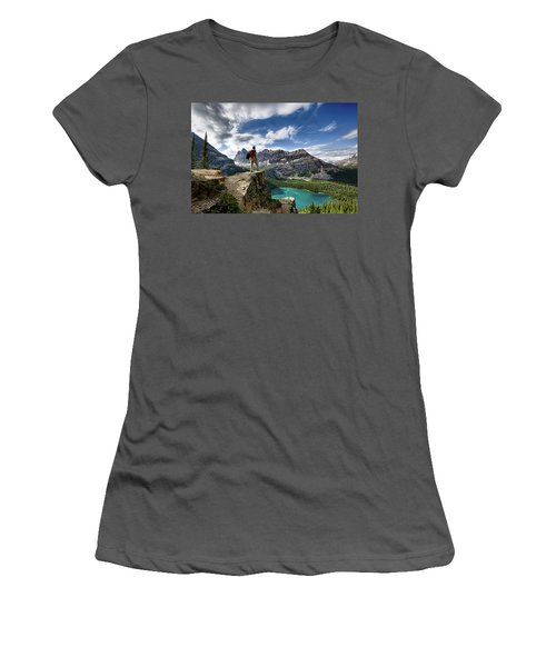Lake O'hara Adventure Women's T-Shirt (Athletic Fit)