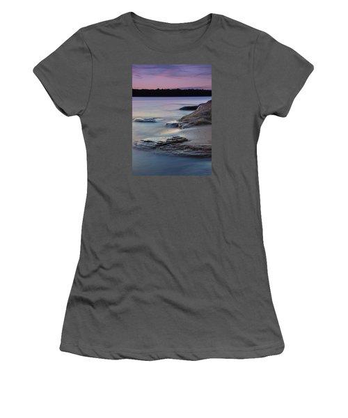 Lake Sunset V Women's T-Shirt (Junior Cut)