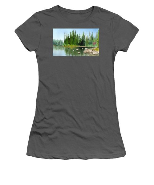 Lake View 1 Women's T-Shirt (Athletic Fit)