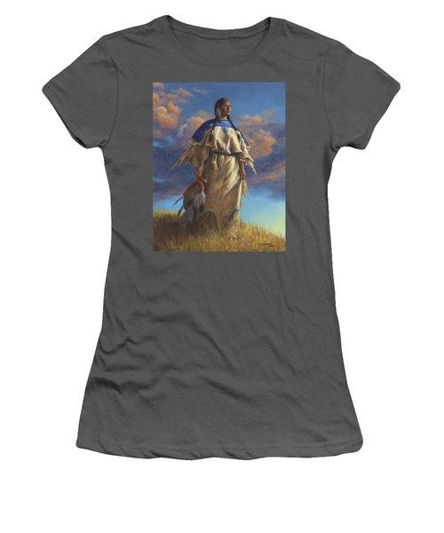 Lakota Woman Women's T-Shirt (Junior Cut) by Kim Lockman