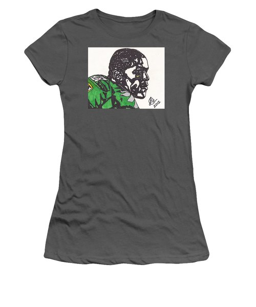 Women's T-Shirt (Junior Cut) featuring the drawing Lamicheal James 2 by Jeremiah Colley