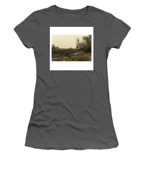 #landscape #stausee #mothernature #tree Women's T-Shirt (Athletic Fit)