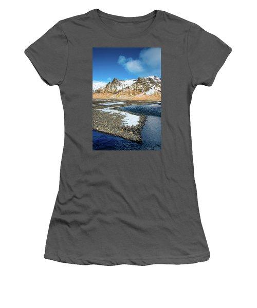 Women's T-Shirt (Junior Cut) featuring the photograph Landscape Sudurland South Iceland by Matthias Hauser