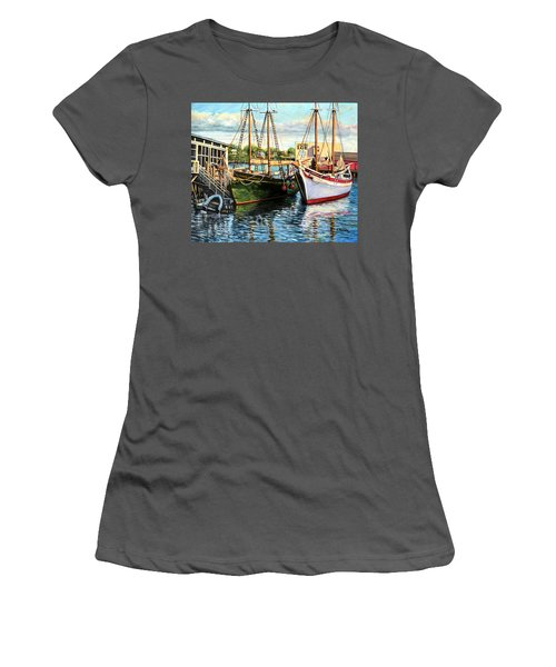 Lannon And Ardelle Gloucester Ma Women's T-Shirt (Junior Cut) by Eileen Patten Oliver