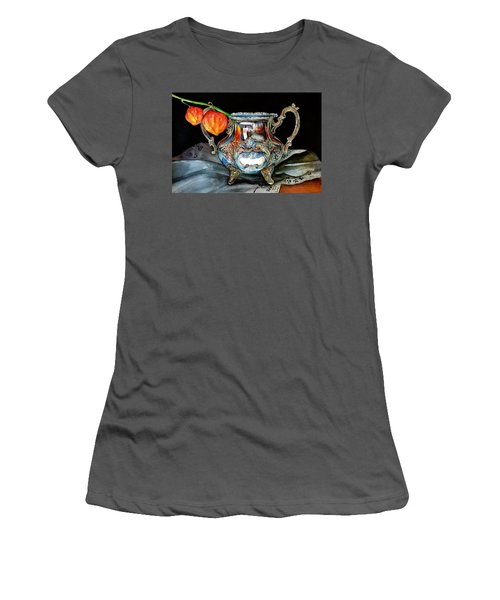 Lanterns On Silver Women's T-Shirt (Athletic Fit)