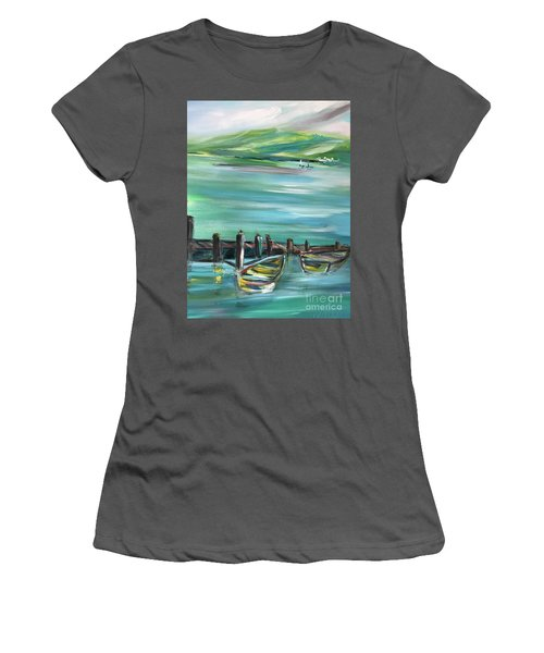 Large Acrylic Painting Women's T-Shirt (Athletic Fit)