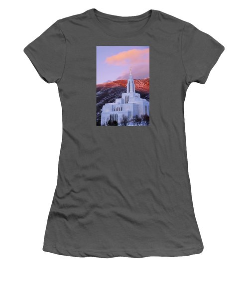 Last Light At Draper Temple Women's T-Shirt (Athletic Fit)