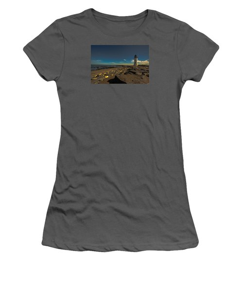 Late Light At The Light Women's T-Shirt (Junior Cut) by Brian MacLean