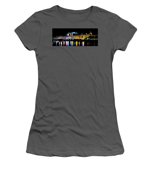 Women's T-Shirt (Athletic Fit) featuring the photograph Late Night Stroll In Salzburg by David Morefield