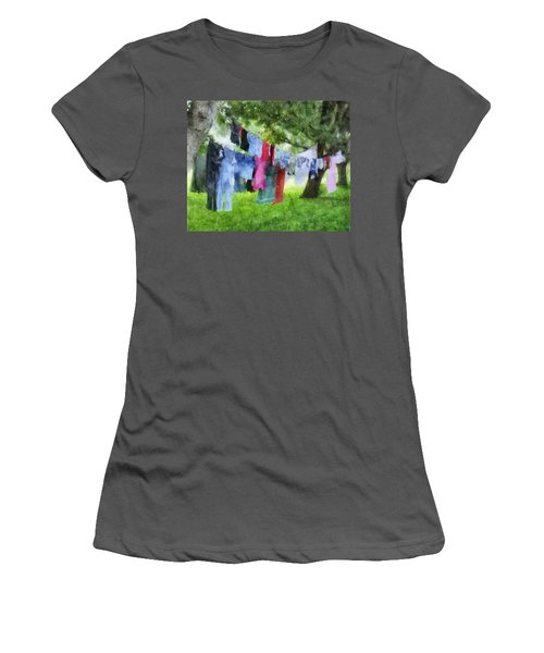 Laundry Line Women's T-Shirt (Athletic Fit)