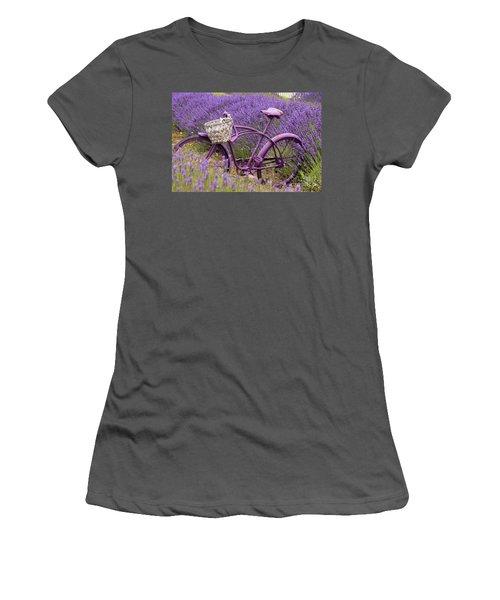 Lavender Bike Women's T-Shirt (Athletic Fit)