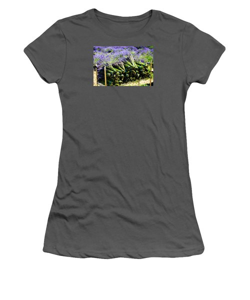 Women's T-Shirt (Junior Cut) featuring the photograph Lavender Bounty by Tanya  Searcy