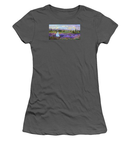 Lavender Splendor  Women's T-Shirt (Athletic Fit)