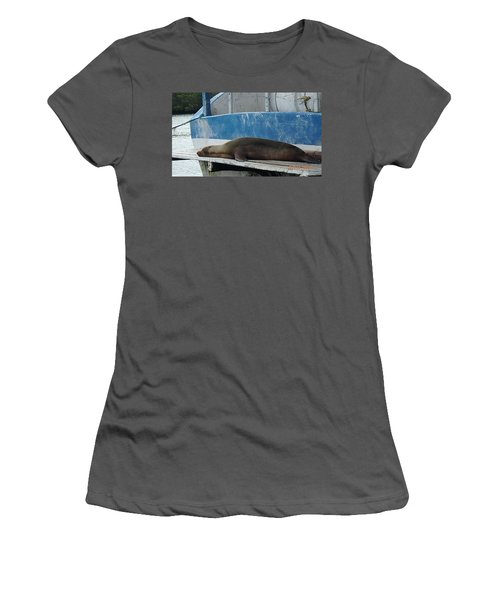 Lazy Day Women's T-Shirt (Junior Cut) by Will Burlingham