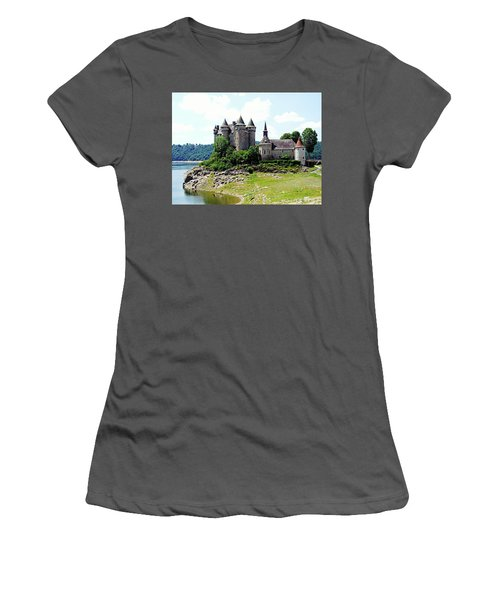 Women's T-Shirt (Athletic Fit) featuring the photograph Le Chateau De Val - France by Joseph Hendrix