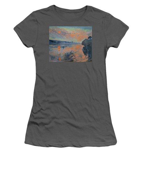 Le Coucher Du Soleil La Meuse Maastricht Women's T-Shirt (Junior Cut) by Nop Briex